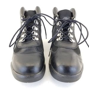 Timberland 15906 Black Leather Field Lace Up Ankle